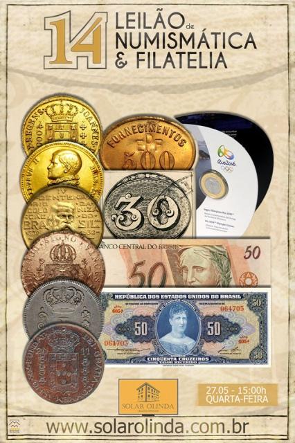 14º Leilão SOLAR OLINDA de Numismática e Filatelia