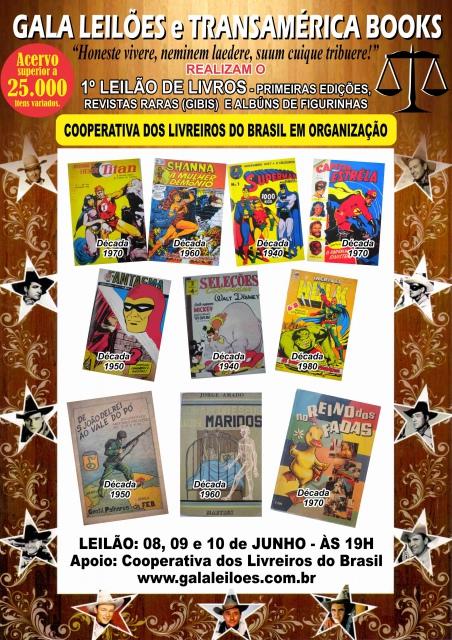 1º Leilão de Livros - Primeiras Edições, Revistas Raras e Álbuns de Figurinhas