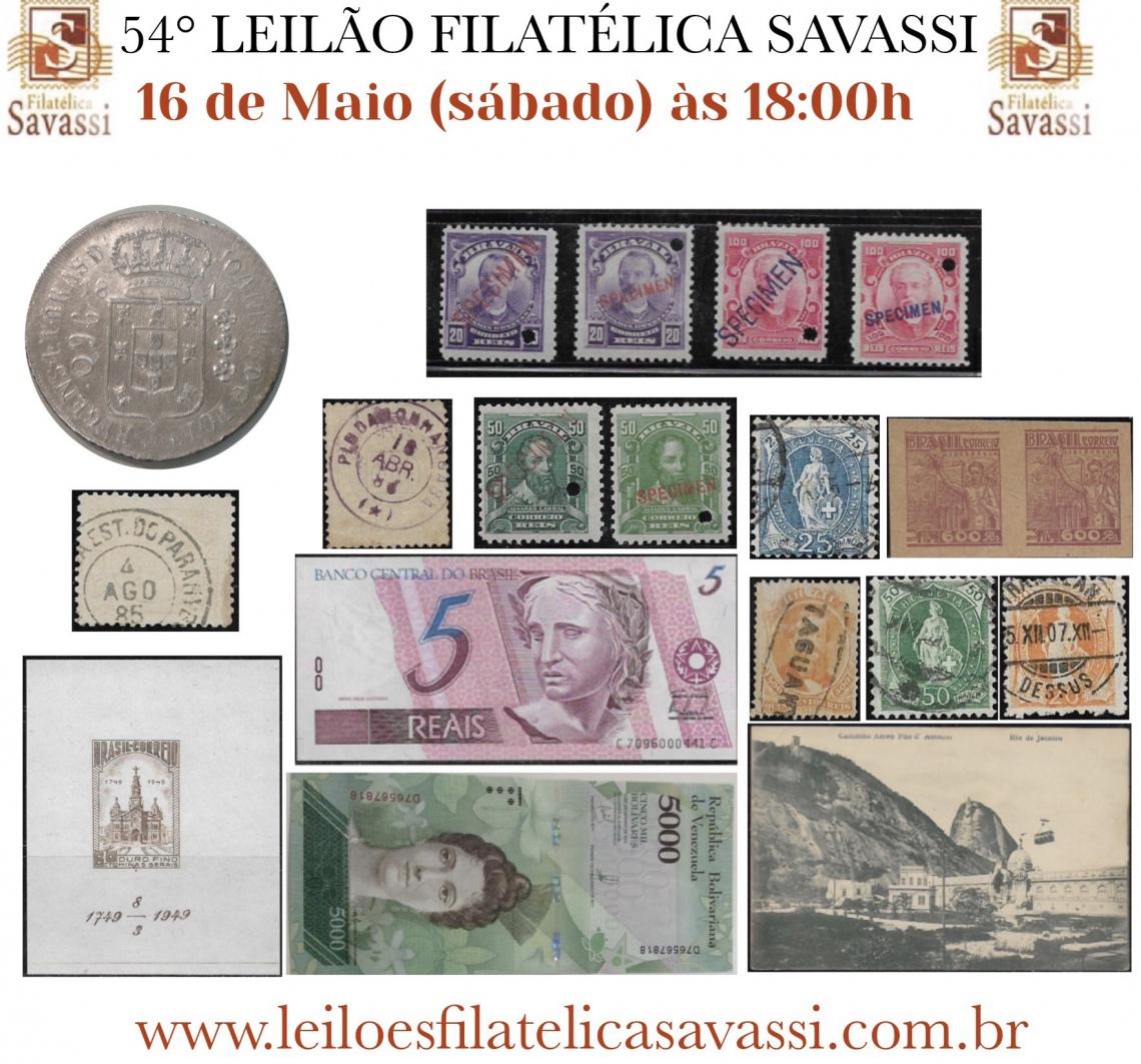 54º LEILÃO FILATÉLICA SAVASSI
