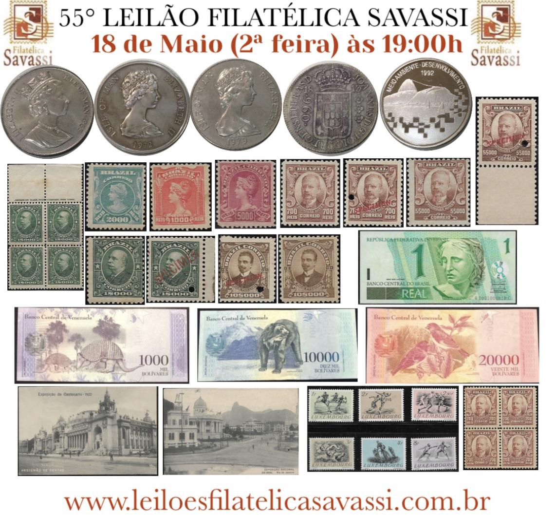 55º LEILÃO FILATÉLICA SAVASSI
