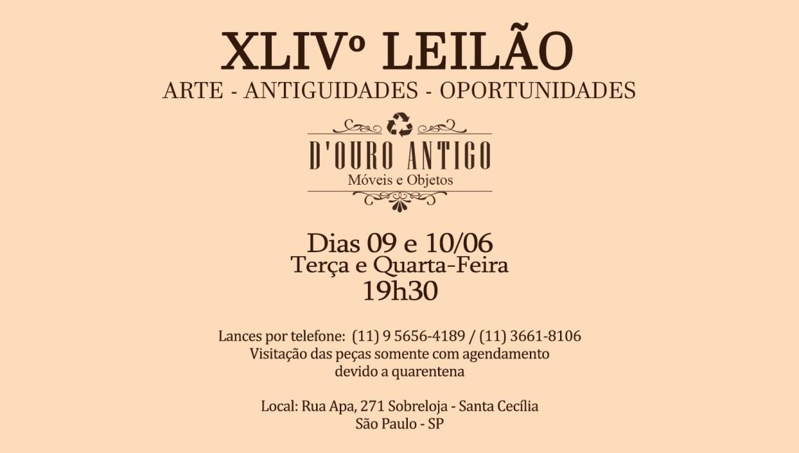 XLlVº LEILÃO DE ARTE - ANTIGUIDADES - OPORTUNIDADES