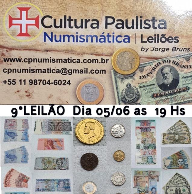 9º LEILÃO CULTURA PAULISTA NUMISMÁTICA
