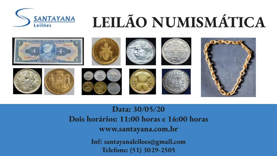 LEILÃO DE NUMISMÁTICA E EXONÚMIA