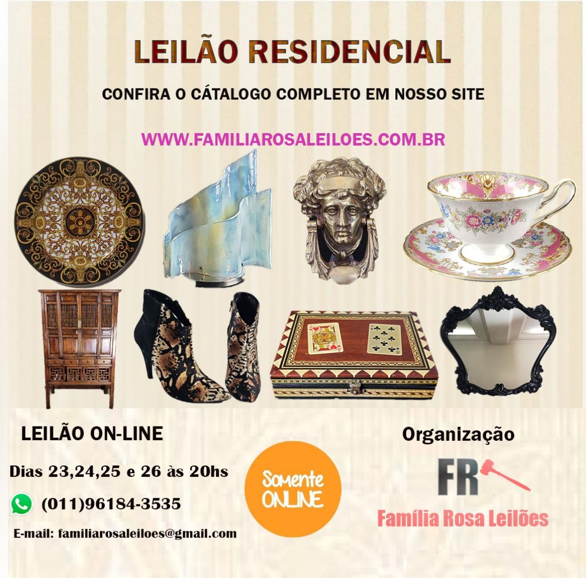 LEILÃO RESIDENCIAL DE ARTE E ANTIGUIDADES