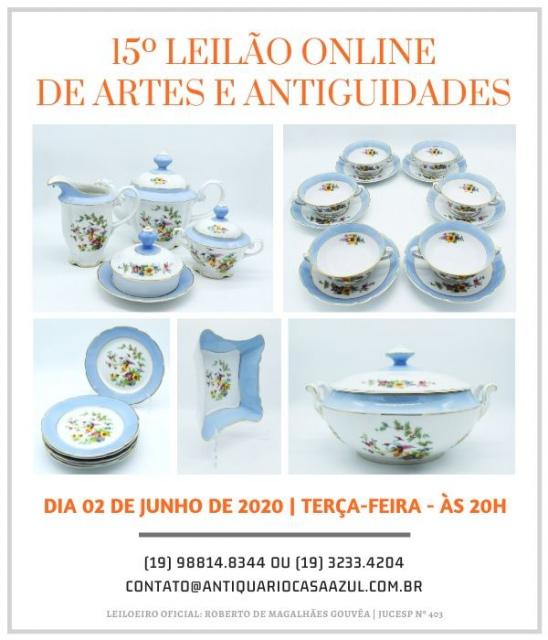 15º LEILÃO DE ARTES E ANTIGUIDADES - 02/06/2020 às 20h00