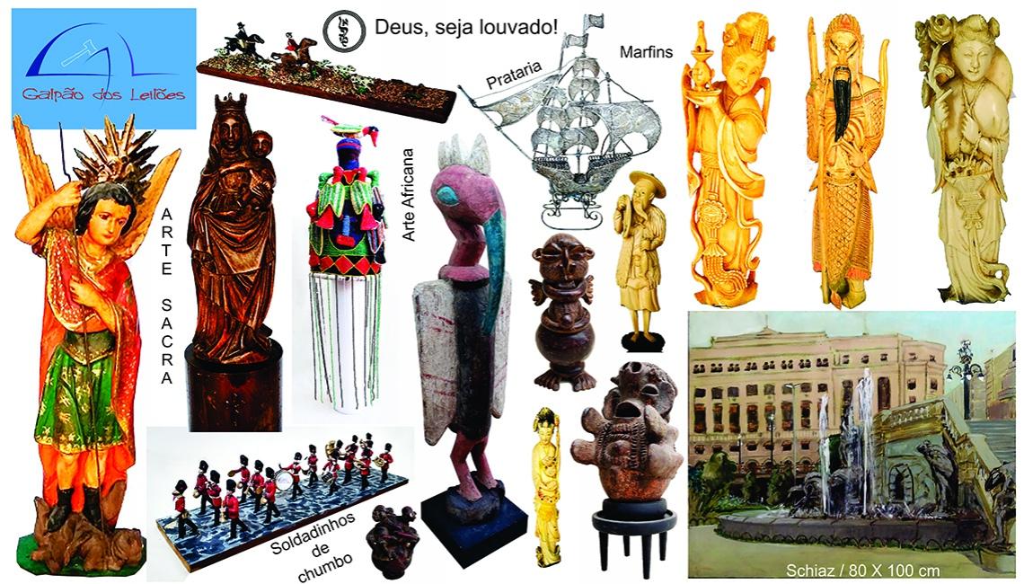 LEILÃO DE ARTE, DECORAÇÃO e COLECIONISMO (destaque p/ Arte Sacra / Tribal Africana e Numismática), 2