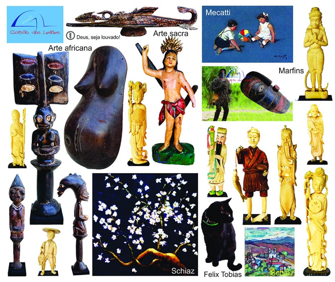 LEILÃO DE ARTE, DECORAÇÃO e COLECIONISMO (destaque p/ Arte Sacra / Tribal Africana e Marfins), 25, 2