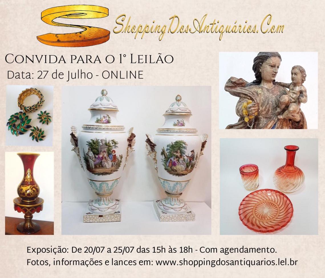 Portal ShoppingDosAntiquarios.Com - 1º LEILÃO DE ARTE E ANTIGUIDADES