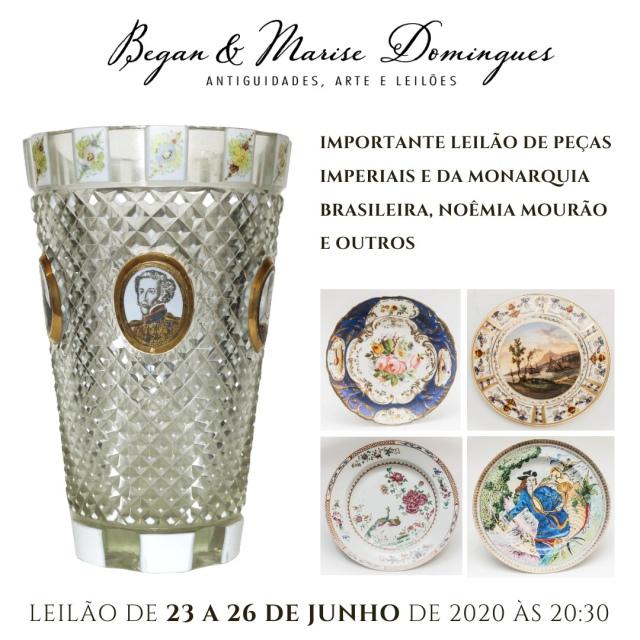 IMPORTANTE LEILÃO DE PEÇAS IMPERIAIS E DA MONARQUIA BRASILEIRA, JOHN GRAZ, NOÊMIA MOURÃO E OUTROS