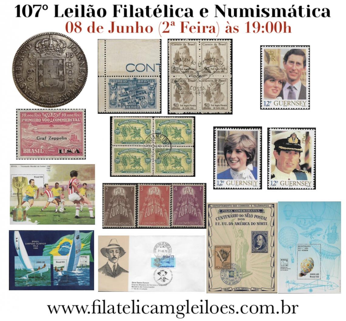 104º Leilão de Filatelia e Numismática