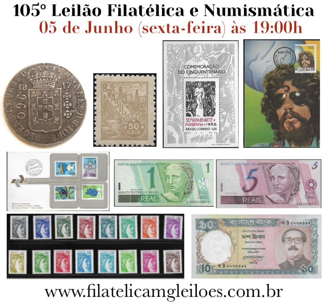 105º Leilão de Filatelia e Numismática