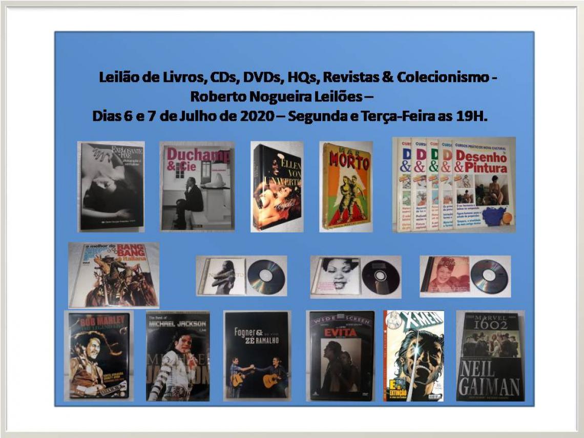 Leilão de Livros, CDs, DVDs, HQs, Revistas & Colecionismo