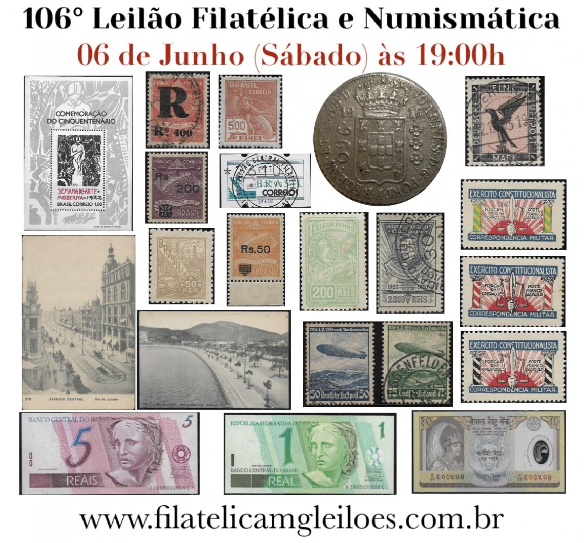 106º Leilão de Filatelia e Numismática
