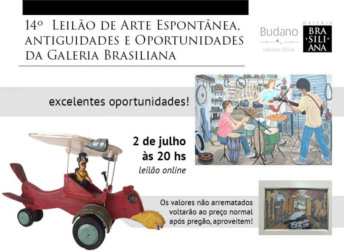 14º Leilão de Arte Espontânea e Oportunidades - Galeria Brasiliana