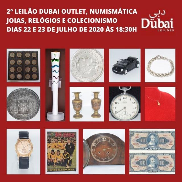 2º LEILÃO DUBAI OUTLET DE NUMISMÁTICA, JOIAS, RELÓGIOS E COLECIONISMO
