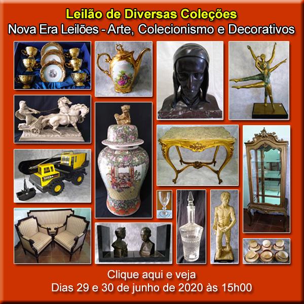 LEILÃO DE ARTE, COLECIONÁVEIS E DECORATIVOS - DIAS 29 E 30 DE JUNHO DE 2020 ÀS 15H00