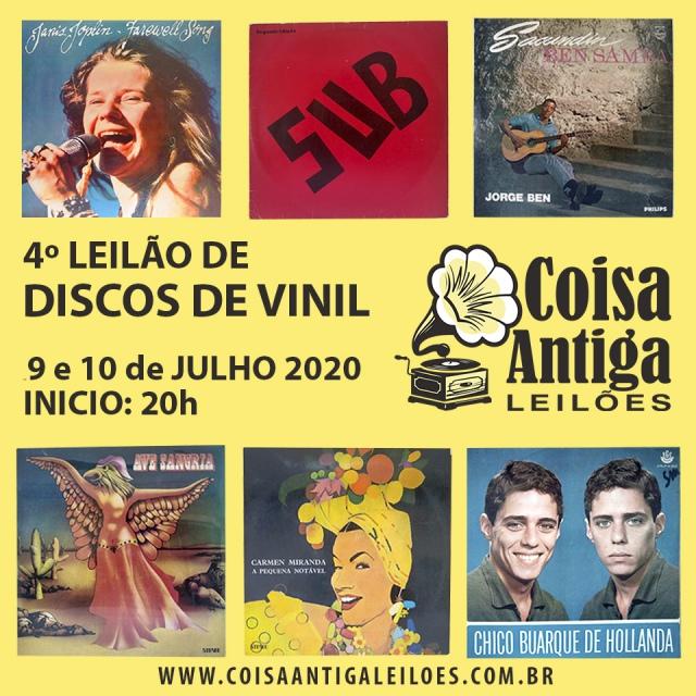 4º LEILÃO DE DISCOS DE VINIL - COISA ANTIGA