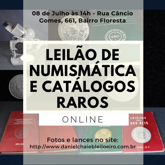 LEILÃO DE NUMISMÁTICA  E CATÁLOGOS RAROS