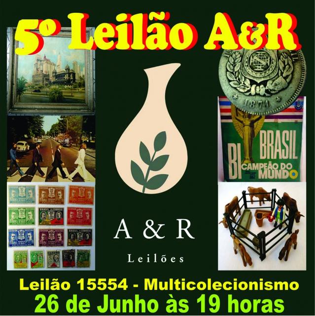 LEILÃO DE COLECIONISMO EM GERAL (FILATELIA  NUMISMÁTICA, MÚSICA, BRINQUEDOS, ETC...)