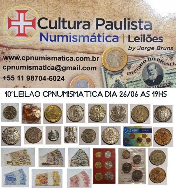 10º LEILÃO CULTURA PAULISTA NUMISMÁTICA