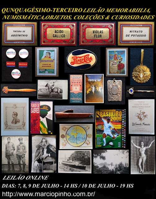 Quinquagésimo-Terceiro Leilão Memorabilia, Numismática, Objetos, Coleções e Curiosidades