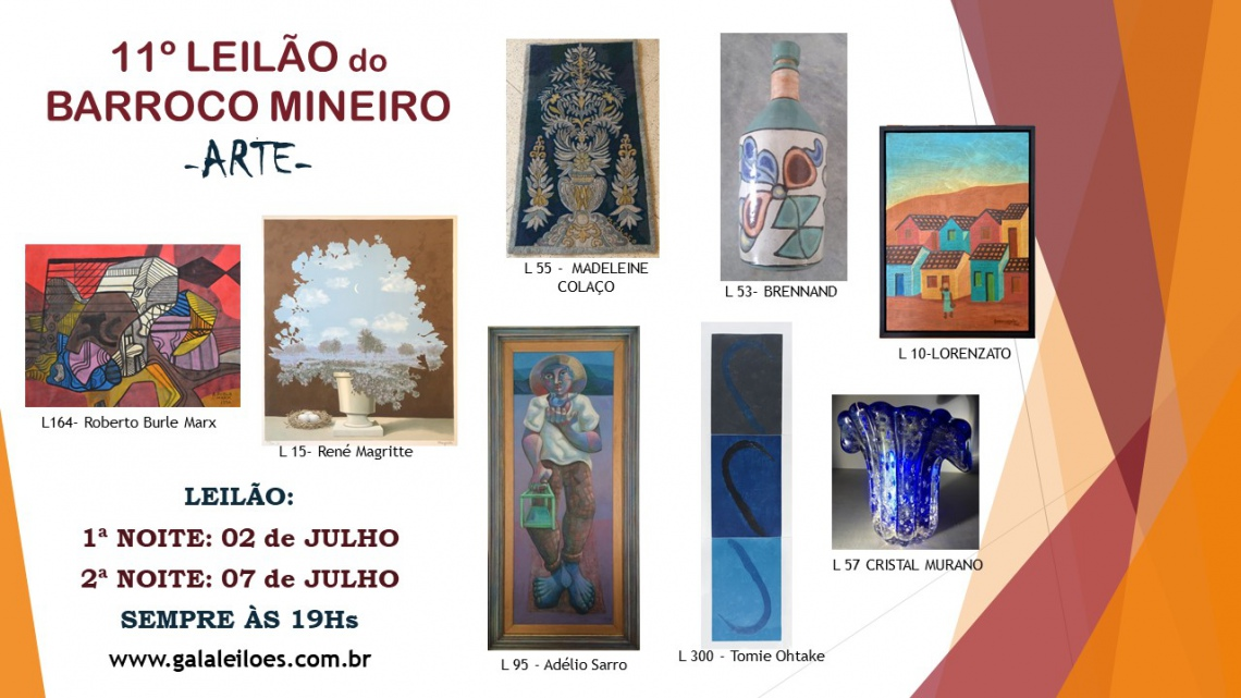 11º LEILÃO DO BARROCO MINEIRO- ARTE
