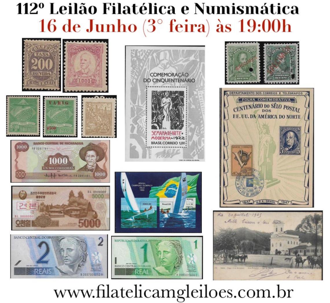 112º Leilão de Filatelia e Numismática