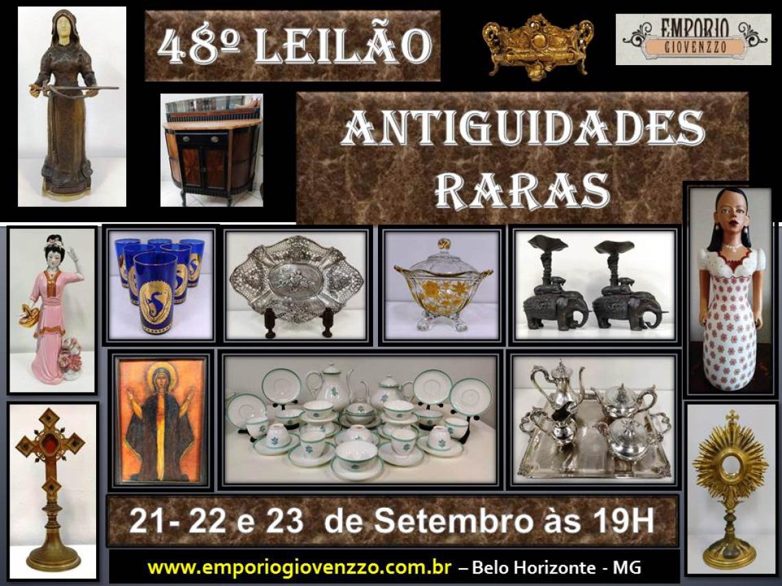 48º LEILÃO DE TUDO UM POUCO - MG -  ANTIGUIDADES , ARTES E MÓVEIS ...