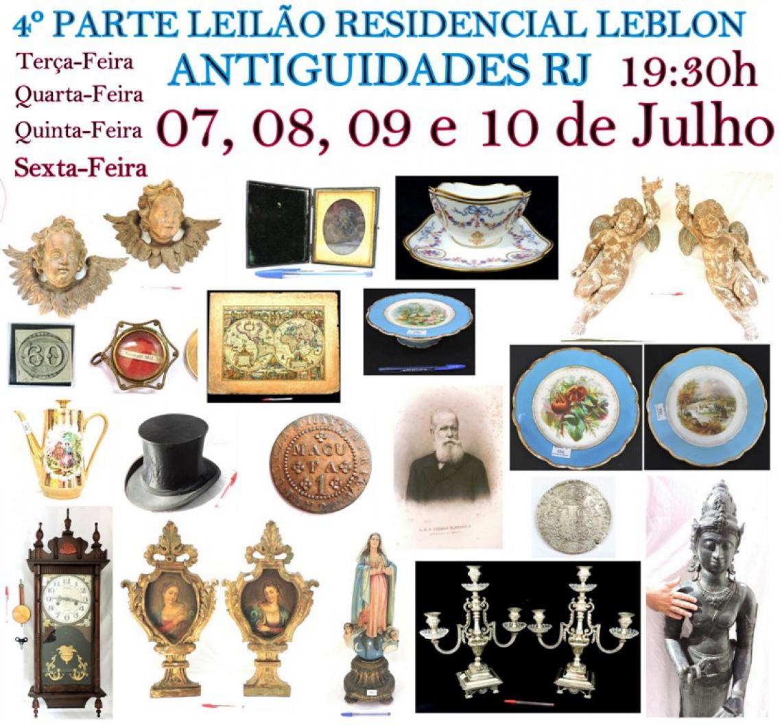 4º PARTE LEILÃO RESIDENCIAL LEBLON ANTIGUIDADES RJ