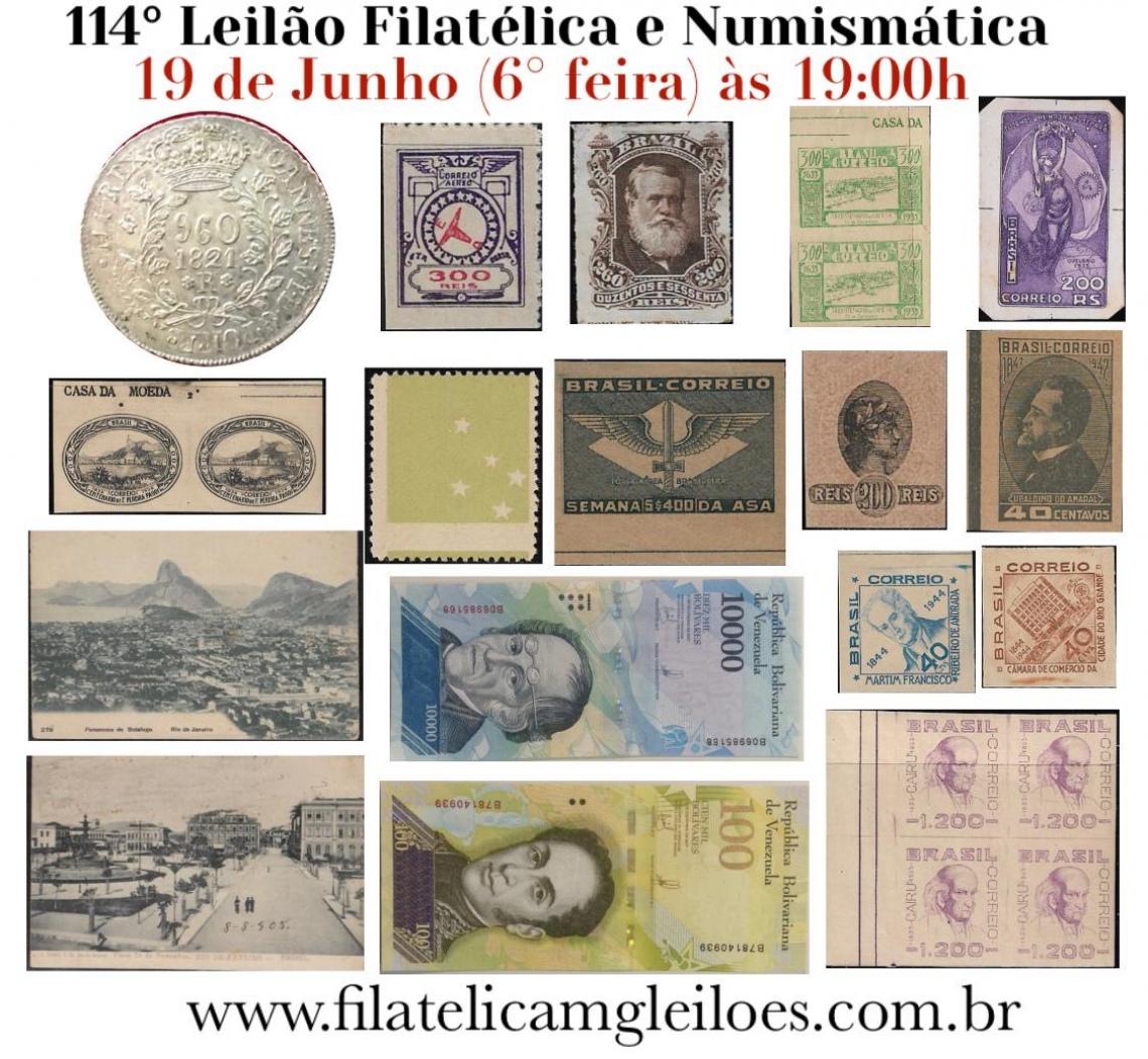 114º Leilão de Filatelia e Numismática