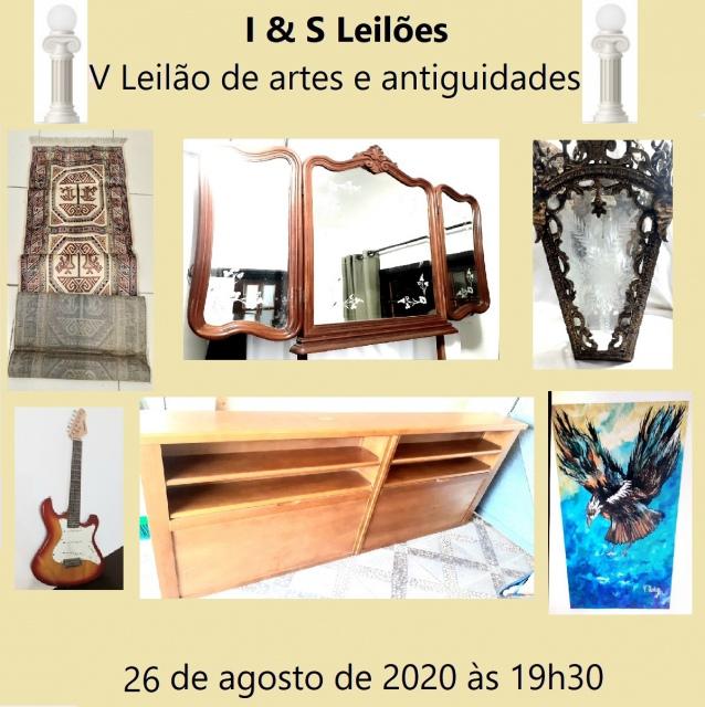 V LEILÃO DE ARTE E ANTIGUIDADES I & S LEILOES