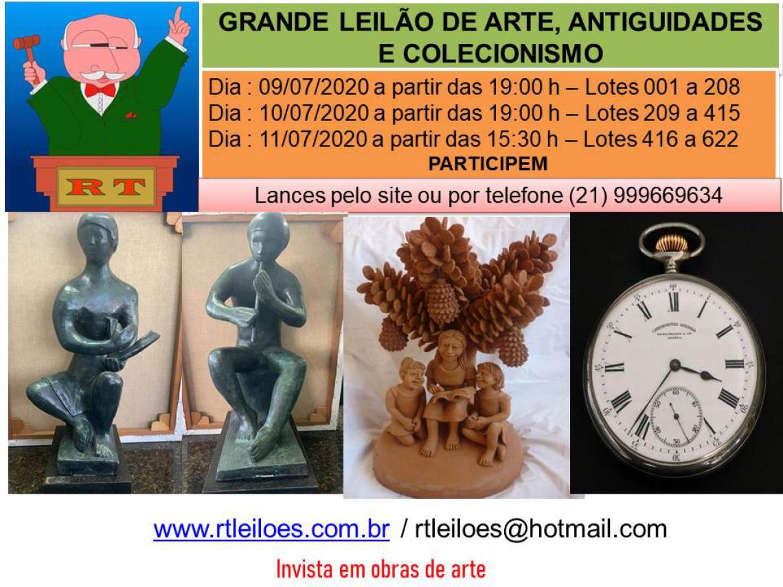 LEILÃO DE ARTE , ANTIGUIDADES E COLECIONISMO