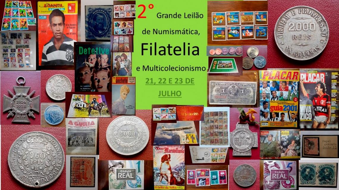 2 GRANDE LEILÃO DE NUMISMÁTICA, FILATELIA E MULTICOLECIONISMO