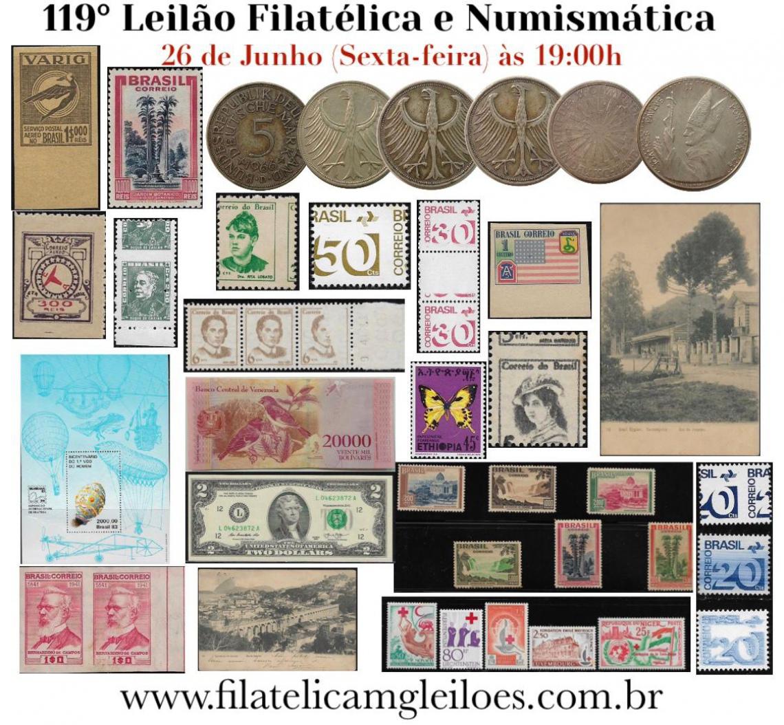 119º Leilão de Filatelia e Numismática