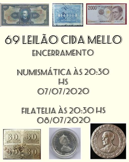 69º LEILÃO CIDA MELLO NUMISMÁTICA E FILATELIA