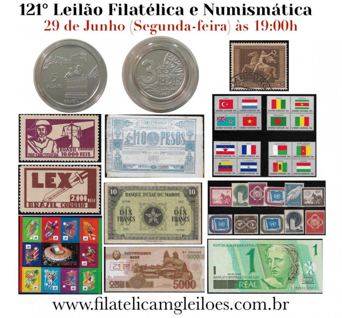 121º Leilão de Filatelia e Numismática