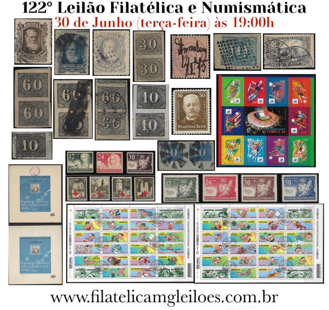 122º Leilão de Filatelia e Numismática