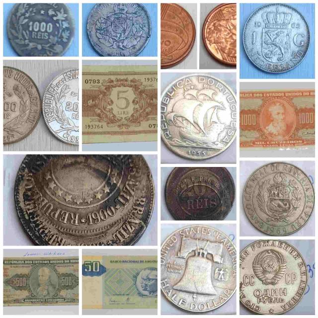 24º LEILÃO - Moedas Cédulas Nacionais e estrangeiras, Tokens, medalhas