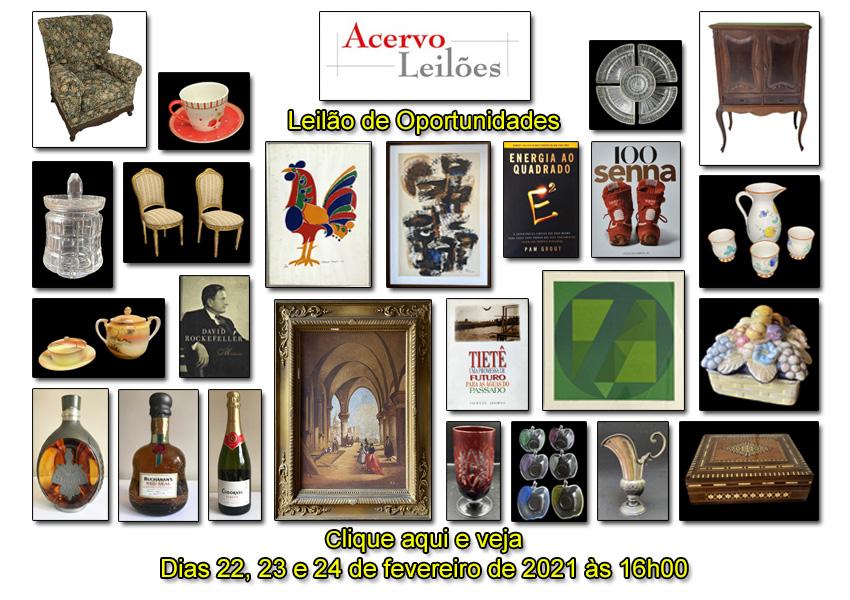 LEILÃO DE OPORTUNIDADES - ACERVO LEILÕES - 22, 23 e 24/02/2021