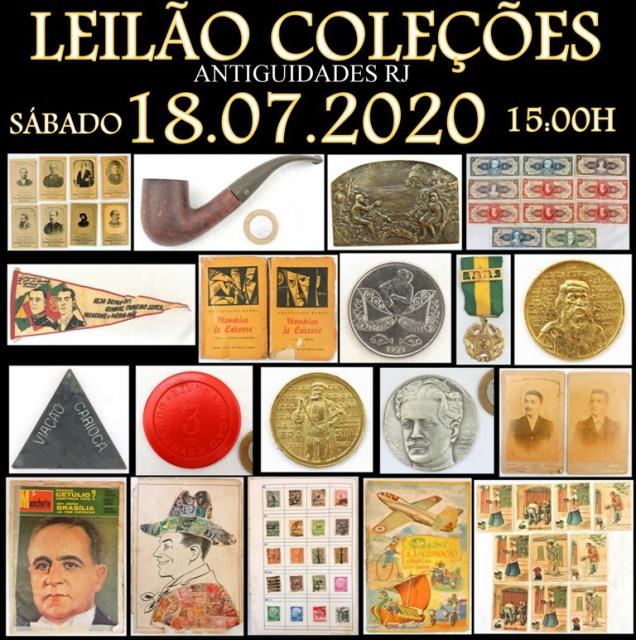 LEILÃO COLEÇÕES ANTIGUIDADES RJ
