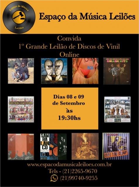 1º Grande Leilão de Discos de Vinil - Espaço da Música Leilões