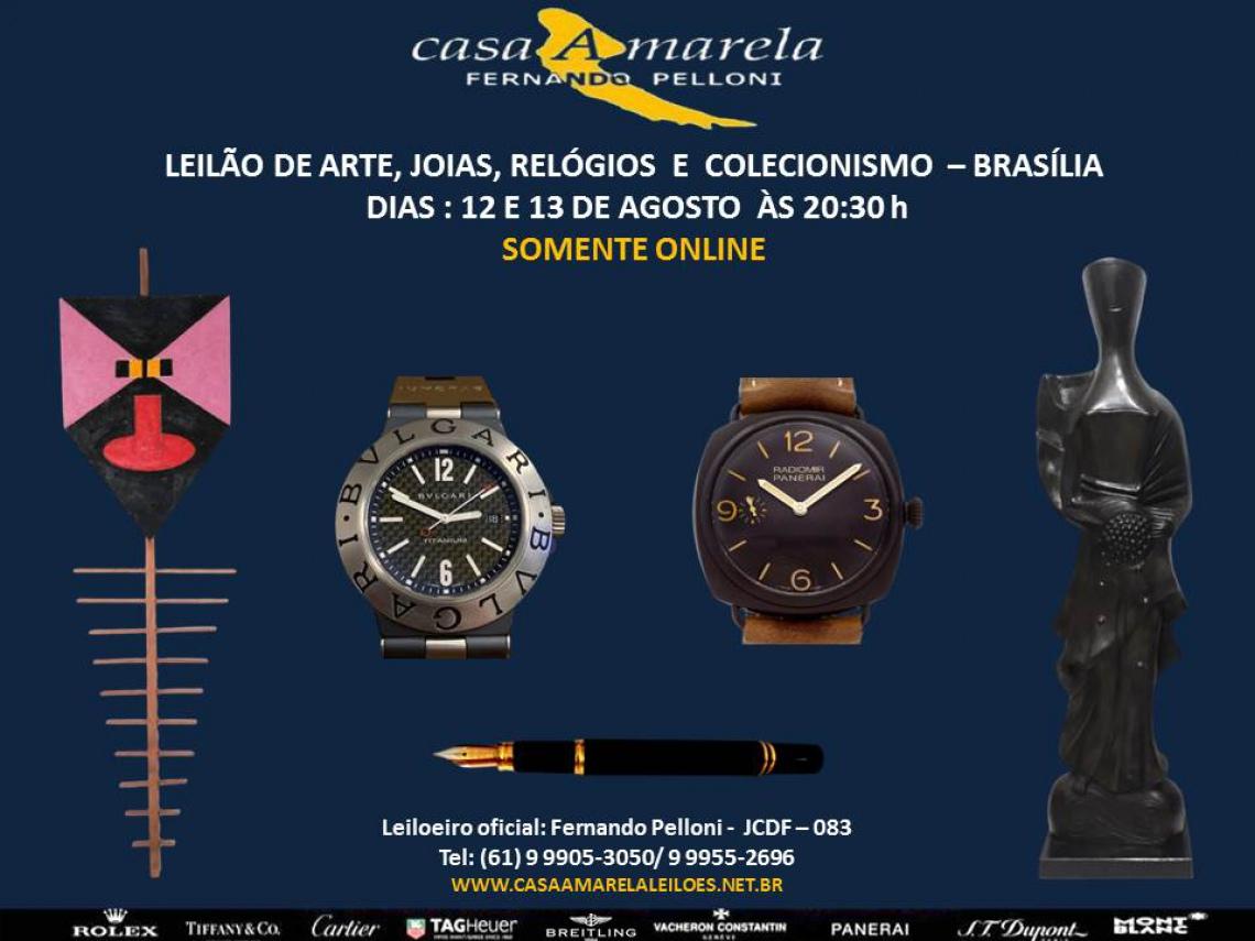 BRASÍLIA - LEILÃO DE ARTE, JÓIAS, RELÓGIOS E COLECIONISMO