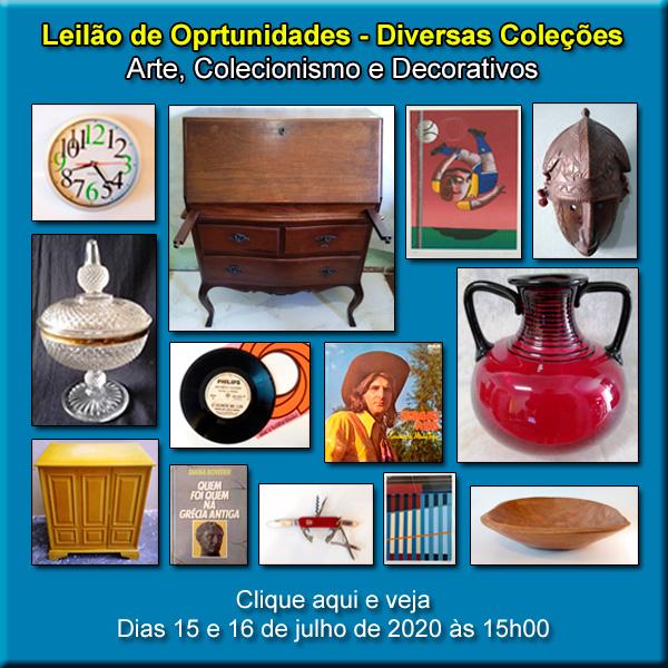 LEILÃO DE ARTE, ANTIGUIDADES E OPORTUNIDADES - ACERVO LEILÕES  - 15 e 16/07/2020 - 15h00