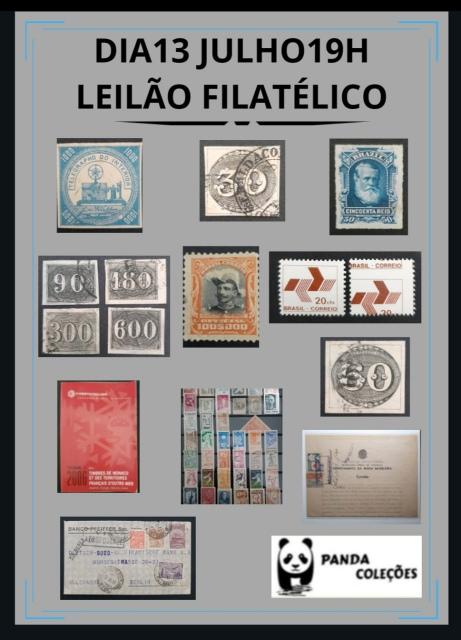 3º LEILÃO PANDA COLEÇÕES - SELOS NACIONAIS E ESTRANGEIROS