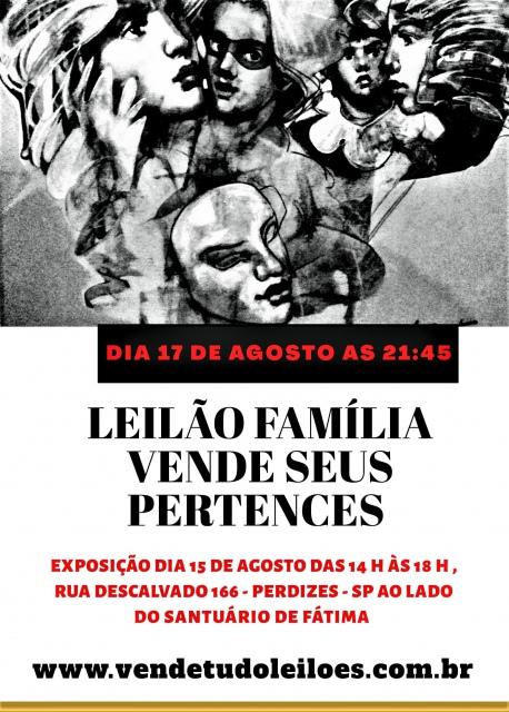 LEILÃO FAMÍLIA VENDE SEUS PERTENCES.