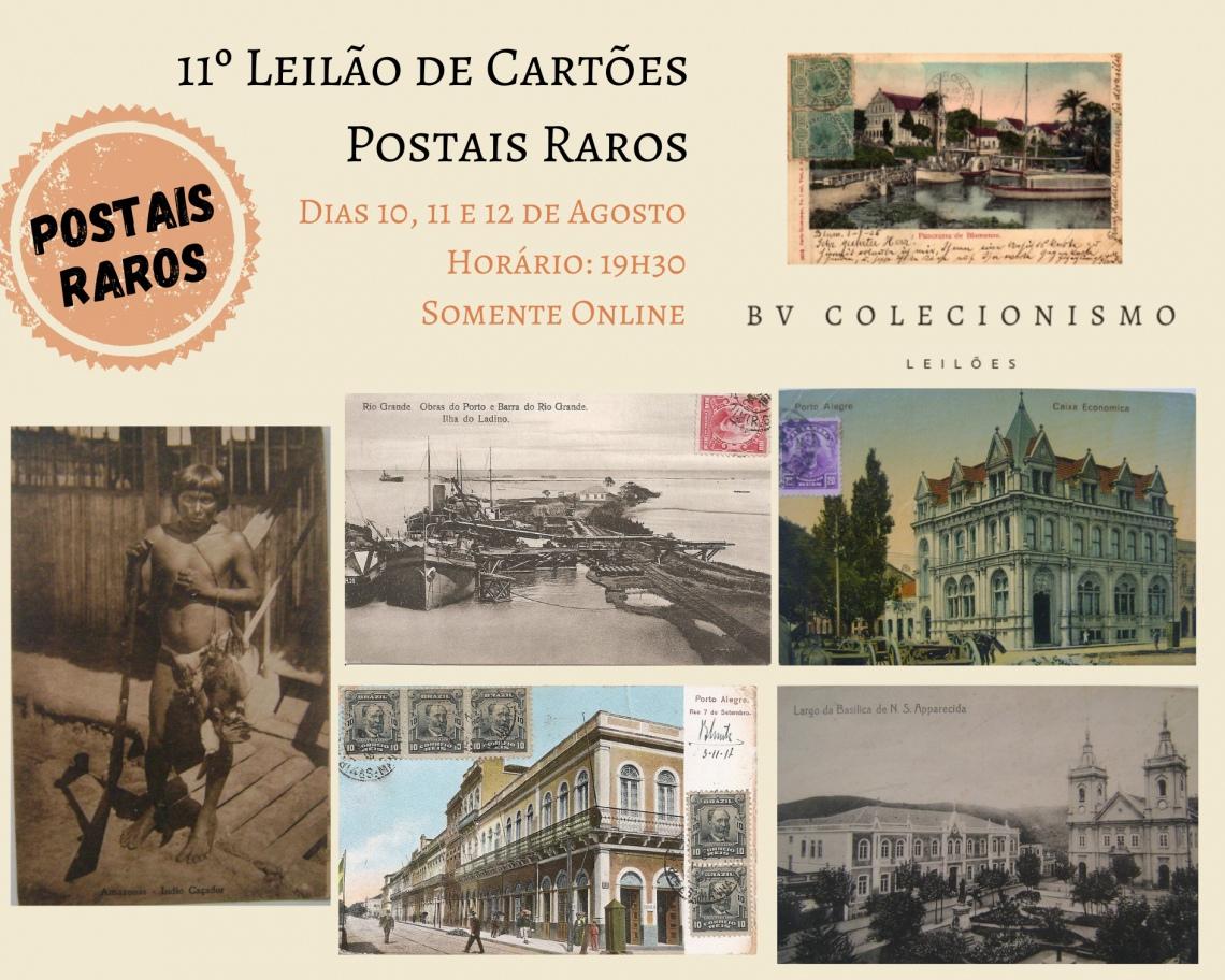 11º LEILÃO DE CARTÕES POSTAIS RAROS