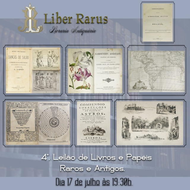 4º. Leilão de Livros Raros e Antigos - Liber Rarus - 17/07/2020 - 19h30
