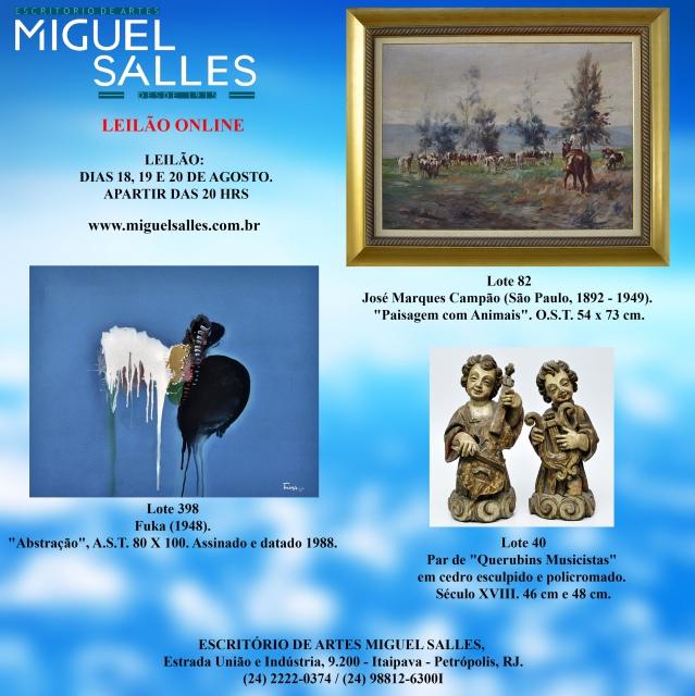 Miguel Salles - Leilão de Artes e Antiguidades.