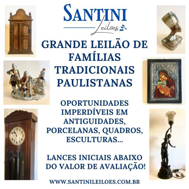 Grande Leilão de Famílias Tradicionais  - Oportunidades! Porcelanas, quadros, antiguidades...