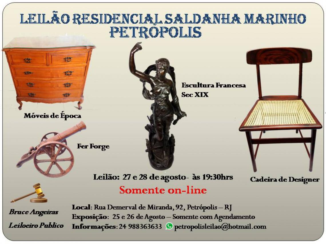 LEILÃO RESIDENCIAL DE ARTE E ANTIGUIDADES SALDANHA MARINHO